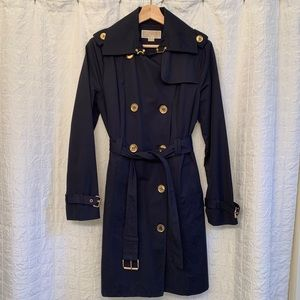 Michael Kors, Navy, Double Breasted Trench Coat